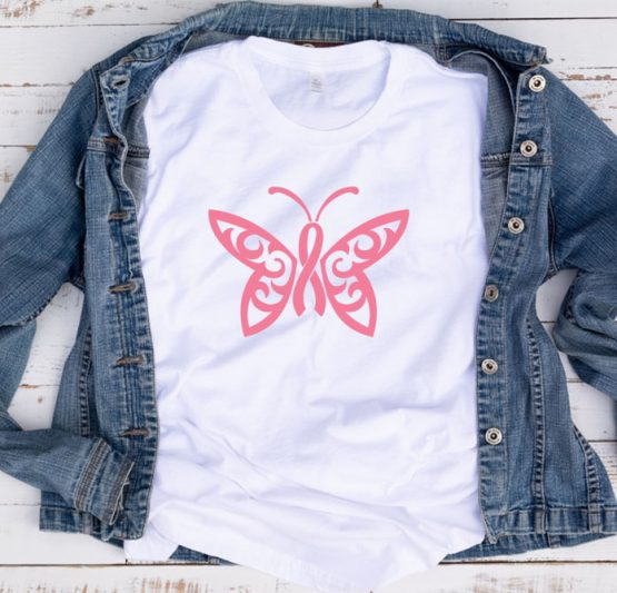 T-Shirt Cancer Awareness Butterfly Cancer Ribbon by Clotee.com Tumblr Aesthetic Clothing