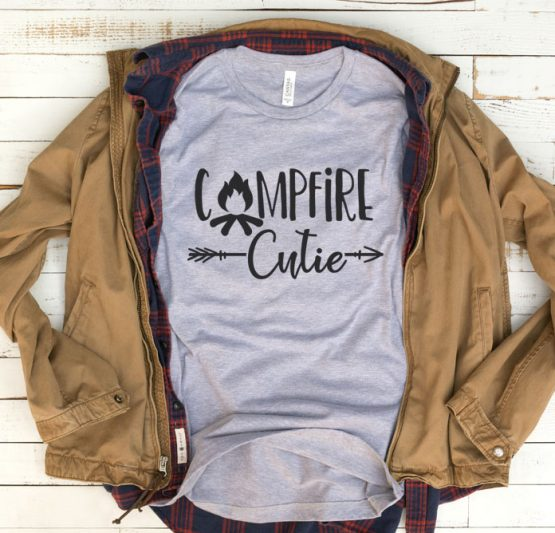 T-Shirt Vacation Campfire Cutie by Clotee.com Tumblr Aesthetic Clothing