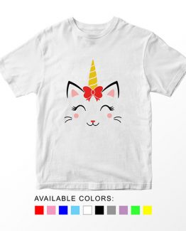 T-Shirt Caticorn With Bow by Clotee.com Aesthetic Clothing