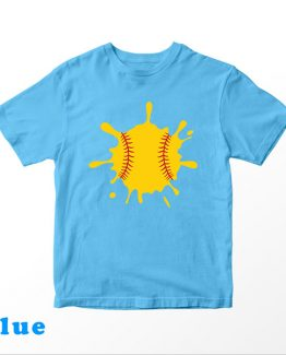 T-Shirt Kids Dripping Softball by Clotee.com Aesthetic Clothing