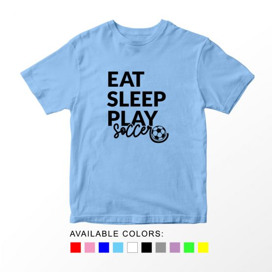 T-Shirt Kids Sport Eat Sleep Play Soccer by Clotee.com Aesthetic Clothing