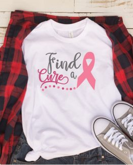 T-Shirt Cancer Awareness Find A Cure by Clotee.com Tumblr Aesthetic Clothing