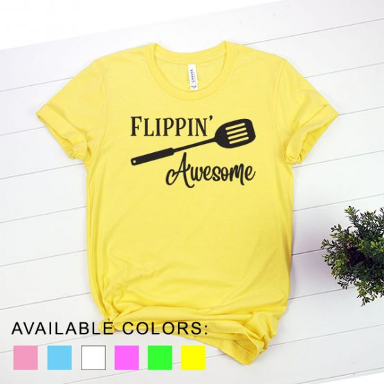 T-Shirt Chef Flippin Awesome by Clotee.com Tumblr Aesthetic Clothing