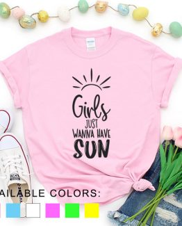 T-Shirt Vacation Girls Just Wanna Have Sun by Clotee.com Aesthetic Clothing