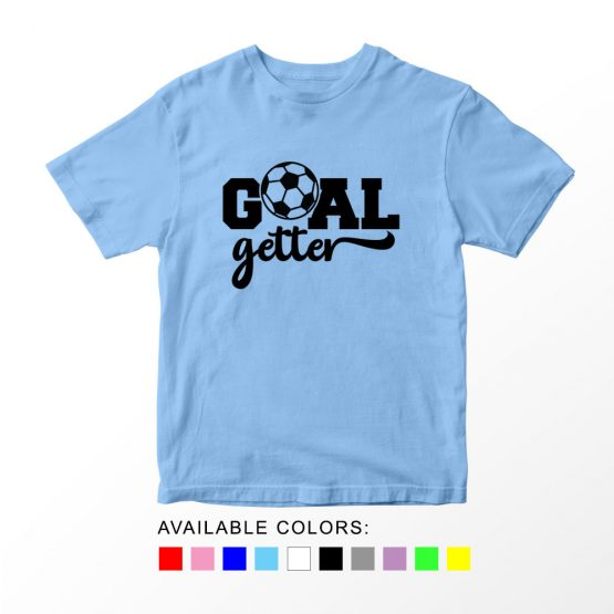T-Shirt Kids Sport Goal Getter Soccer by Clotee.com Aesthetic Clothing