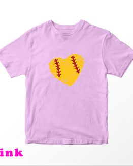 T-Shirt Kids Heart Dirt Softball by Clotee.com Aesthetic Clothing