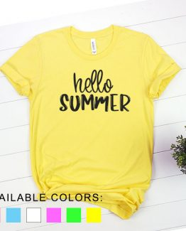 T-Shirt Vacation Hello Summer by Clotee.com Aesthetic Clothing