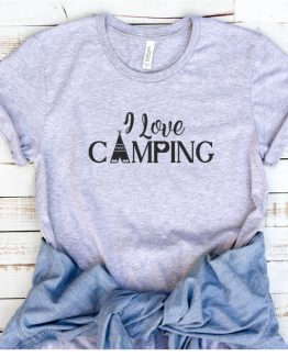T-Shirt Vacation I Love Camping by Clotee.com Tumblr Aesthetic Clothing