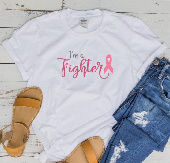 T-Shirt Cancer Awareness I'm A Fighter by Clotee.com Tumblr Aesthetic Clothing