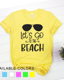 T-Shirt Vacation Let's Go To The Beach by Clotee.com Aesthetic Clothing