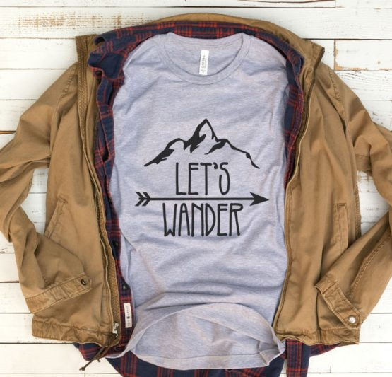 T-Shirt Vacation Let's Wander Camping by Clotee.com Tumblr Aesthetic Clothing