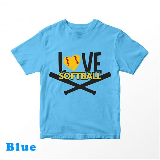 T-Shirt Kids Love Softball 2 by Clotee.com Aesthetic Clothing