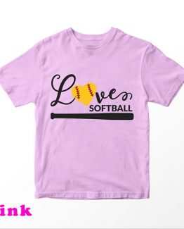 T-Shirt Kids Love Softball 3 by Clotee.com Aesthetic Clothing