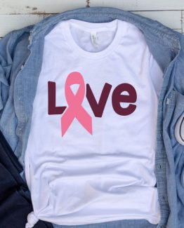 T-Shirt Cancer Awareness Love by Clotee.com Aesthetic Clothing