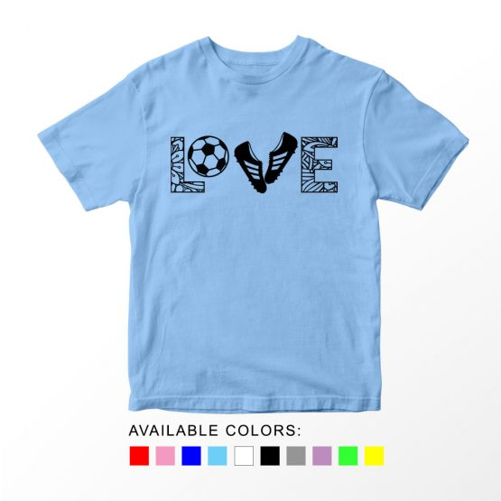 T-Shirt Kids Sport Love Letter Soccer by Clotee.com Aesthetic Clothing