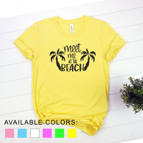 T-Shirt Vacation Meet Me At The Beach by Clotee.com Aesthetic Clothing