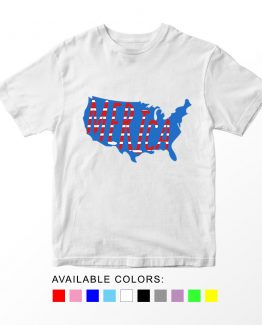 T-Shirt Merica Map Patriotic Kids Independence Day 4th July by Clotee.com Aesthetic Clothing