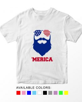 T-Shirt Merica Patriotic Kids Independence Day 4th July by Clotee.com Aesthetic Clothing