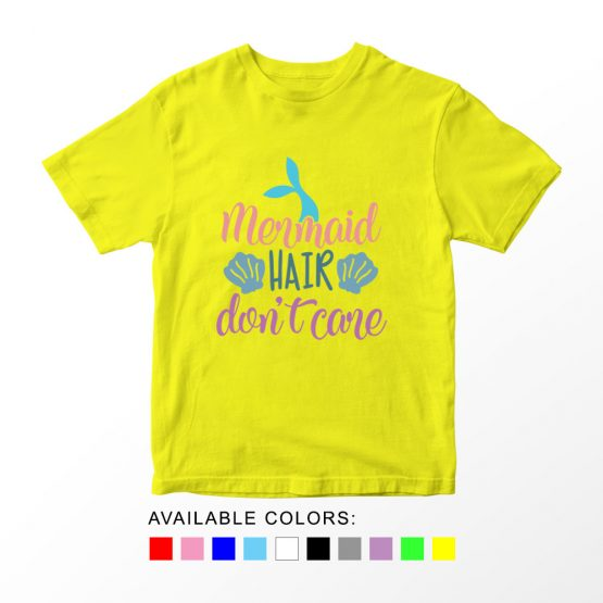 T-Shirt Kids Mermaid Hair Don't Care by Clotee.com Aesthetic Clothing