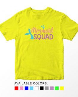 T-Shirt Kids Mermaid Squad by Clotee.com Aesthetic Clothing