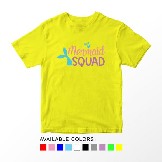 T-Shirt Kids Mermaid Squad by Clotee.com Aesthetic Clothing