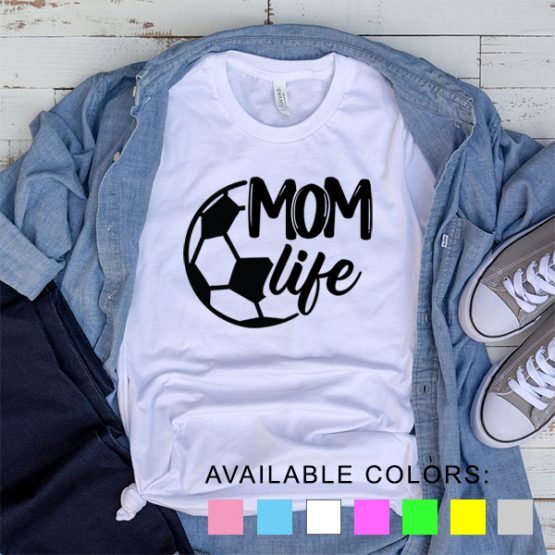 T-Shirt Soccer Mom Life by Clotee.com Aesthetic Clothing