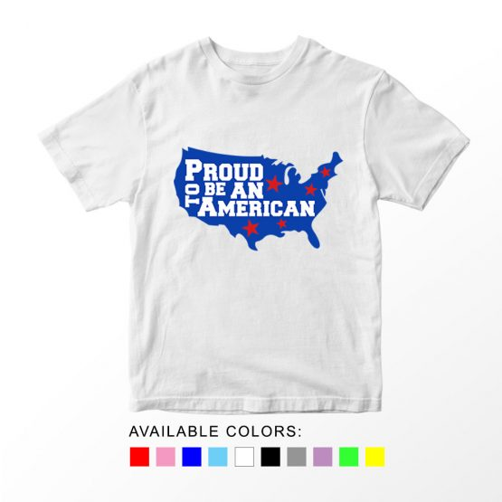 T-Shirt Proud To Be An American Patriotic Kids Independence Day 4th July by Clotee.com Aesthetic Clothing