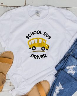 T-Shirt School Bus Driver by Clotee.com Aesthetic Clothing