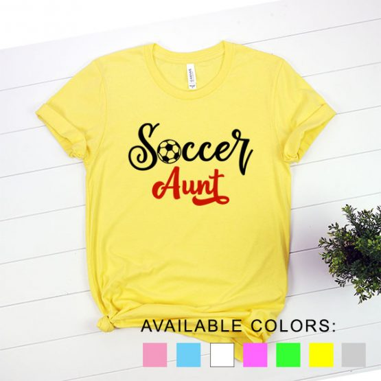 T-Shirt Soccer Aunt by Clotee.com Aesthetic Clothing