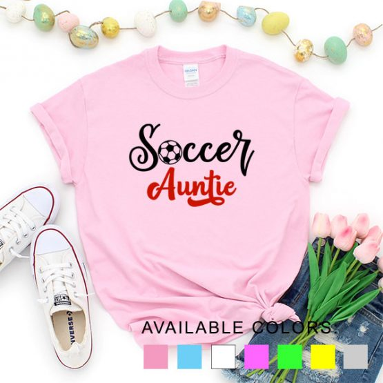 T-Shirt Soccer Auntie by Clotee.com Aesthetic Clothing
