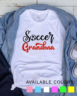 T-Shirt Soccer Grandma by Clotee.com Aesthetic Clothing
