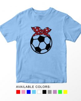 T-Shirt Kids Sport Soccer Red Bandana by Clotee.com Aesthetic Clothing