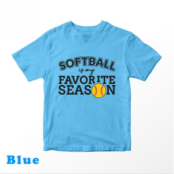 T-Shirt Kids Softball Is My Favorite Season by Clotee.com Aesthetic Clothing