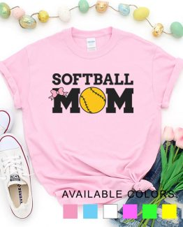 T-Shirt Softball Mom Game by Clotee.com Aesthetic Clothing