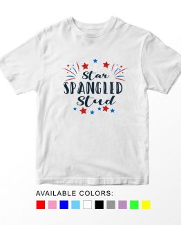 T-Shirt Star Spangled Stud Patriotic Kids Independence Day 4th July by Clotee.com Aesthetic Clothing