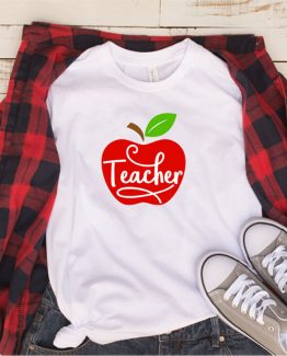 T-Shirt Teacher Apple by Clotee.com Aesthetic Clothing
