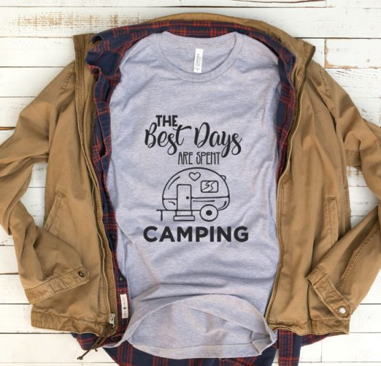 T-Shirt Vacation The Best Days Are Spent Camping by Clotee.com Tumblr Aesthetic Clothing