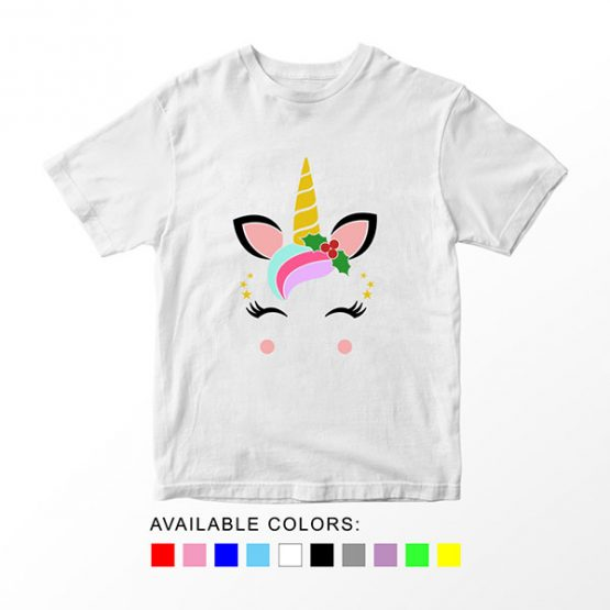 T-Shirt Unicorn Christmas by Clotee.com Aesthetic Clothing