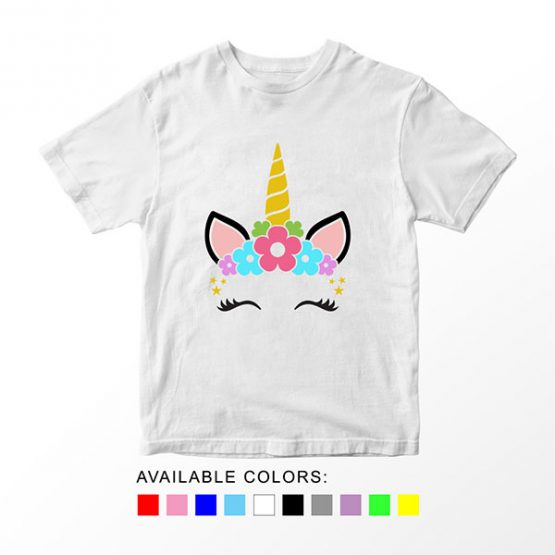 T-Shirt Unicorn Floral by Clotee.com Aesthetic Clothing