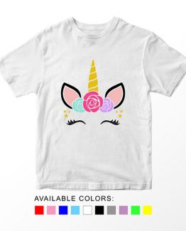 T-Shirt Unicorn Flower by Clotee.com Aesthetic Clothing