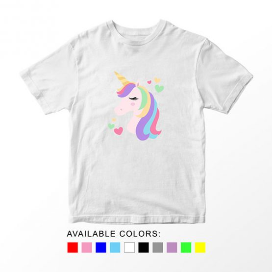 T-Shirt Unicorn Head 1 by Clotee.com Aesthetic Clothing