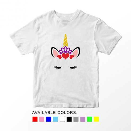 T-Shirt Unicorn Head 11 by Clotee.com Aesthetic Clothing