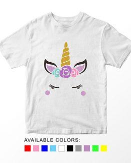 T-Shirt Unicorn Head 12 by Clotee.com Aesthetic Clothing