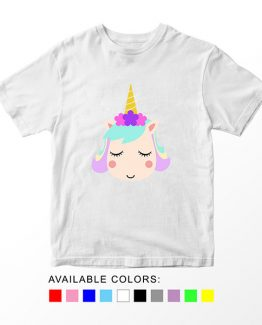 T-Shirt Unicorn Head 14 by Clotee.com Aesthetic Clothing
