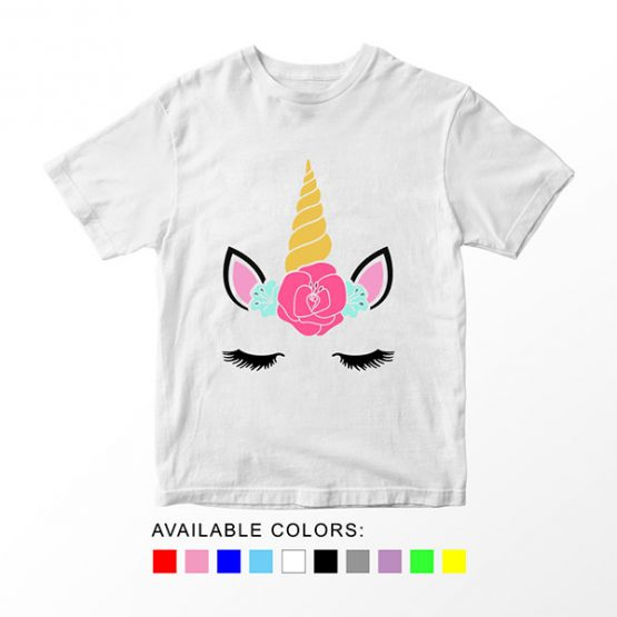 T-Shirt Unicorn Head 15 by Clotee.com Aesthetic Clothing