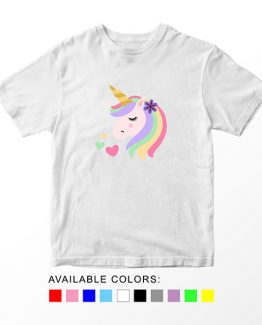 T-Shirt Unicorn Head 18 by Clotee.com Aesthetic Clothing