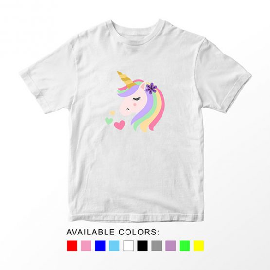 T-Shirt Unicorn Head 18 by Clotee.com Aesthetic Clothing