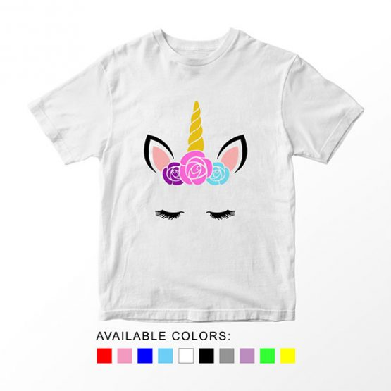 T-Shirt Unicorn Head 19 by Clotee.com Aesthetic Clothing