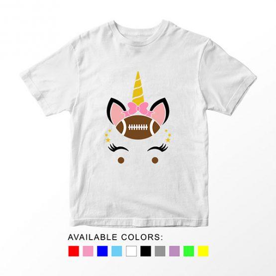 T-Shirt Unicorn Head Football by Clotee.com Aesthetic Clothing