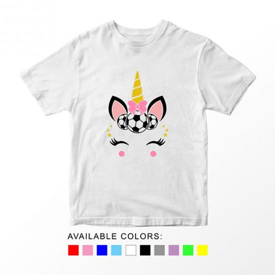T-Shirt Unicorn Head Soccer by Clotee.com Aesthetic Clothing
